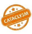 Cataclysm grunge icon vector