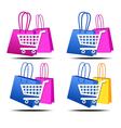 Internet shopping icons vector