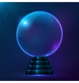 Blue magic spiritual ball vector