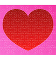 Puzzle with red heart vector