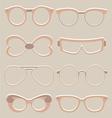 Set of cute glasses vector