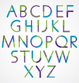 Blue-green font created with circles and lines vector