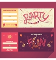 Party hand-lettering invitation ticket vector