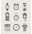 Retro and modern clock set vector