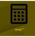 Calculator flat modern web button with long shadow vector