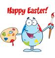 Happy easter activity cartoon egg vector