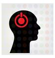 Creative silhouette head sign vector