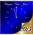 2015 new year greeting with curled corner vector