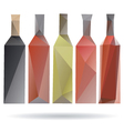 Bottles abstract isolated on a white backgrounds vector