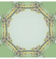 Circle lace hand-drawn ornament card vector