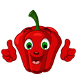 Red pepper character giving thumbs up vector