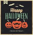 Happy halloween vintage typographic template vector