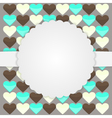 Brown card template with hearts vector