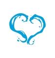 Milk or water heart sign vector