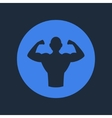 Bodybuilder fitness logo icon vector