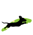 Silhouette of running dog vector