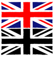 Painted union jack vector