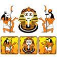 Tiles egyptian gods vector