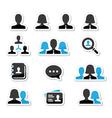 Businessman businesswoman user icons set vector