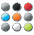Blank bottle caps vector