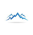 Mountains peaks image vector