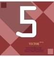 Number five icon symbol flat modern web design vector