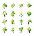 Trees - logo template set vector