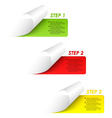 Set of colorful sample steps stickers vector