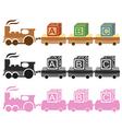 Kids toy train vector