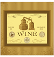 Label for wine with winery vector