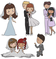 Marriage elements vector