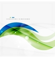 Green and blue light air lines vector
