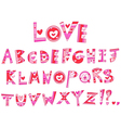 Love alphabet vector