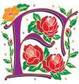 Rosette letter f vector