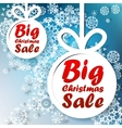 Christmas big sale template with copy space vector