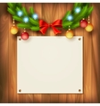 Christmas garland on wooden wall vector