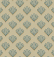 Abstract shell seamless pattern vector