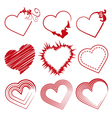 Love set hearts valentine day promotions vector