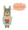 Cute dog wants to be a valentine vector