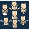 Set of bear sports labels vector