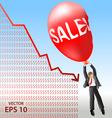 Sales plan disaster vector