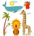 African animals set vector