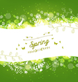 Spring background with florals vector