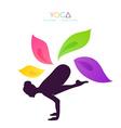 Beautiful woman doing yoga vector