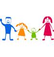 Happy family cartoon illustra vector