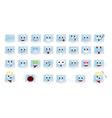 Monitors emoticons vector