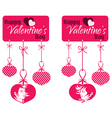 Valentine couple hanging tag vector
