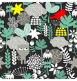 Seamless pattern with black cat vector