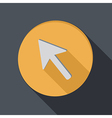 Paper flat icon with a shadow web arrow vector