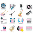 Audio and music icon set vector